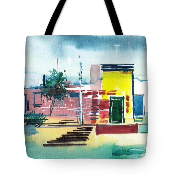 Abstract Reality Mix 1 Tote Bag by Anil Nene
