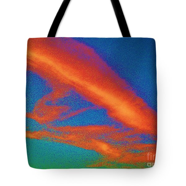 Abstract Red Blue And Green Sky Tote Bag