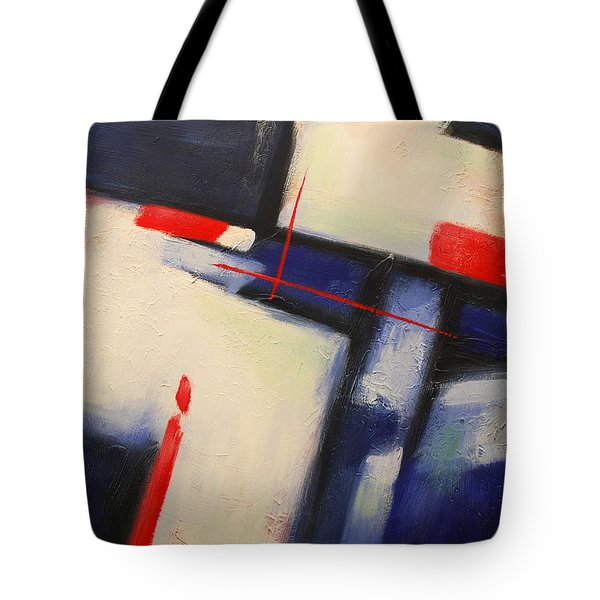Abstract Red Blue Tote Bag