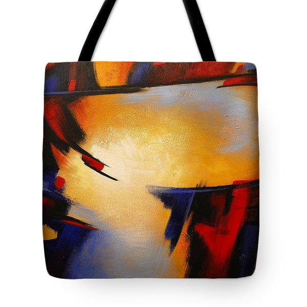 Abstract Red Blue Yellow Tote Bag