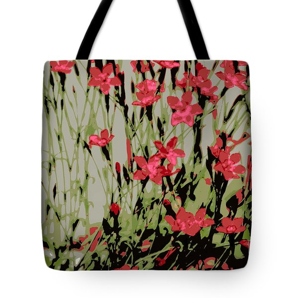 Tote Bag featuring the photograph Abstract Red Flowers by Kenny Glotfelty