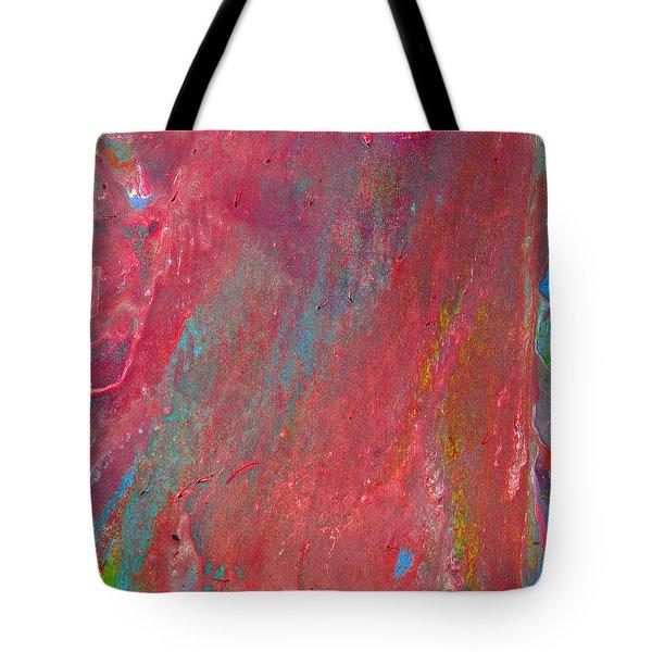 Abstract Red Rain Tote Bag