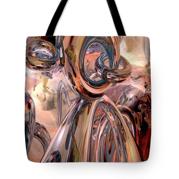 Abstract Reflecting Rings Tote Bag by Phil Perkins