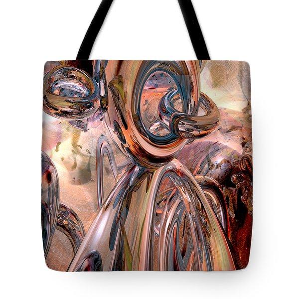 Abstract Reflecting Rings Tote Bag