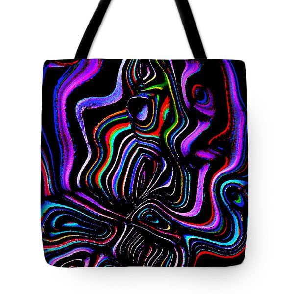 Abstract  Rhythm A Contemporary Modern Digital Art Tote Bag by Annie Zeno