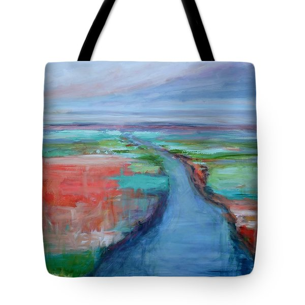 Abstract River Tote Bag by Donna Tuten