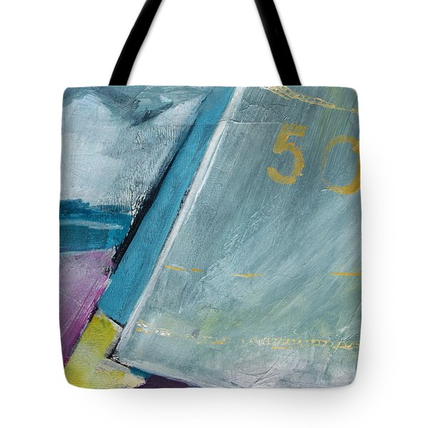 abstract sail with Number Fifty Tote Bag by Betty Pieper