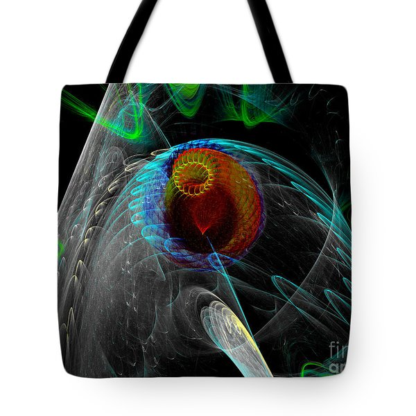 Tote Bag featuring the digital art Abstract Sea Mouth by Russell Kightley