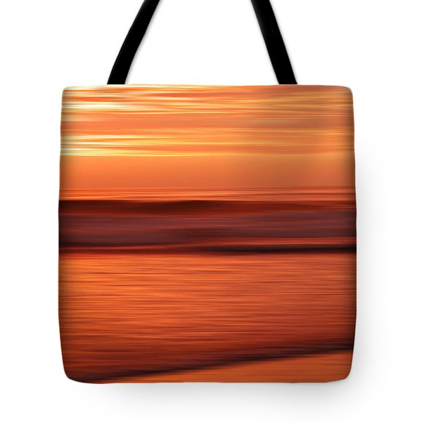 Abstract Seascape At Sunset Tote Bag