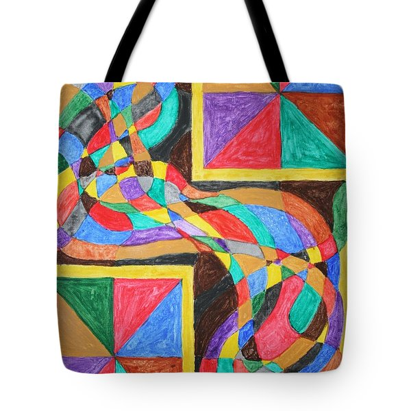 Tote Bag featuring the painting Alien By Windows by Stormm Bradshaw