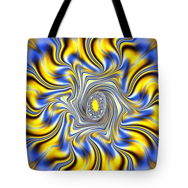 Abstract Spun Flower Tote Bag