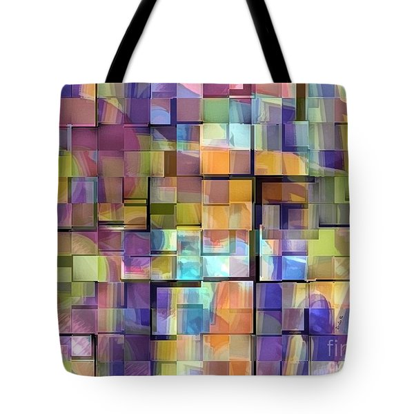 Abstract  Squares Tote Bag