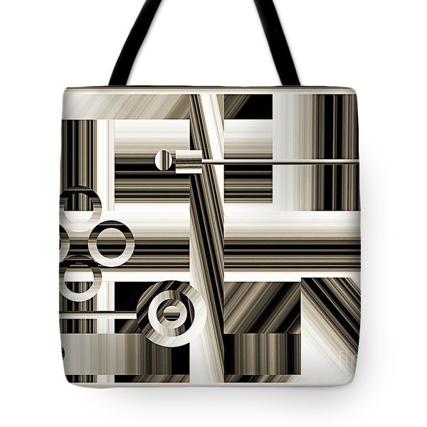 Abstract Station The Road To No Where Tote Bag by Andee Design