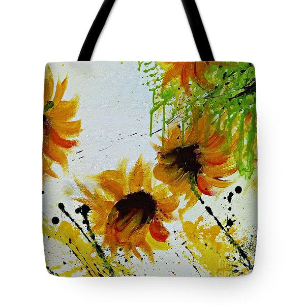 Abstract Sunflowers Tote Bag by Ismeta Gruenwald