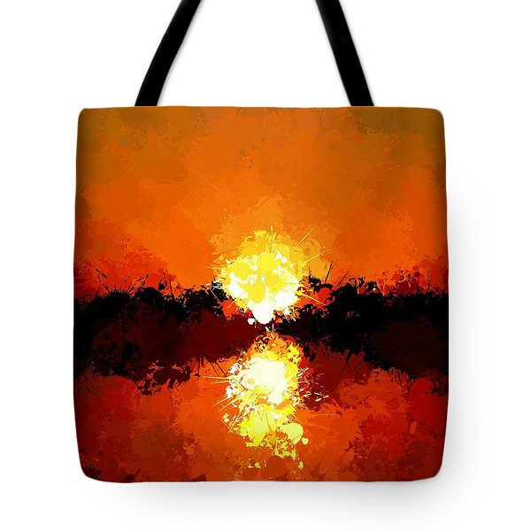 Abstract Sunset On The Sea Tote Bag