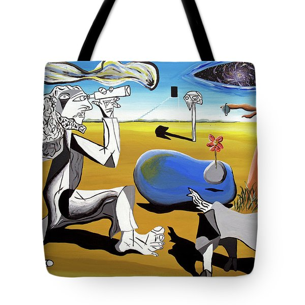 Tote Bag featuring the painting Abstract Surrealism by Ryan Demaree