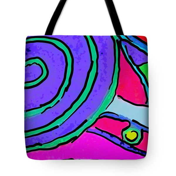 Abstract Swirl Tote Bag