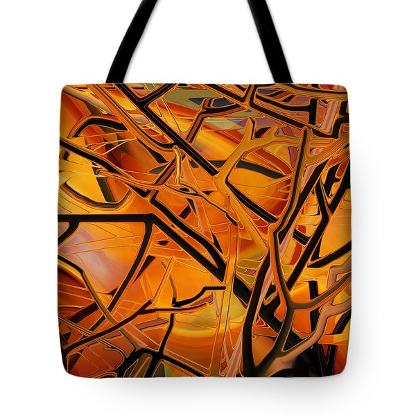 Abstract - Tangled Brush Tote Bag by rd Erickson