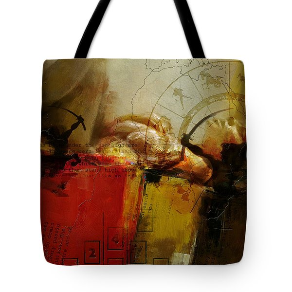 Abstract Tarot Art 014 Tote Bag by Corporate Art Task Force