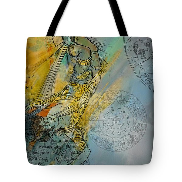 Abstract Tarot Art 015 Tote Bag by Corporate Art Task Force
