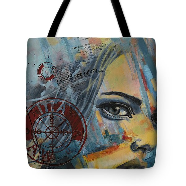 Abstract Tarot Art 022a Tote Bag by Corporate Art Task Force