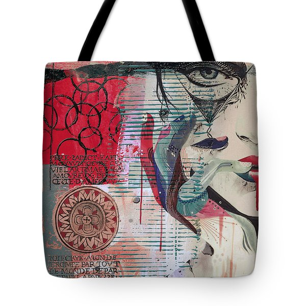 Abstract Tarot Card 008 Tote Bag by Corporate Art Task Force