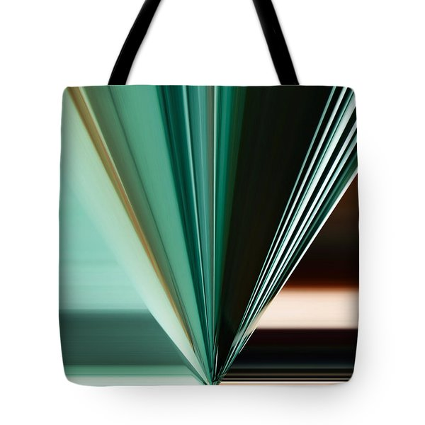 Abstract - Teal - Aqua - Five Tote Bag