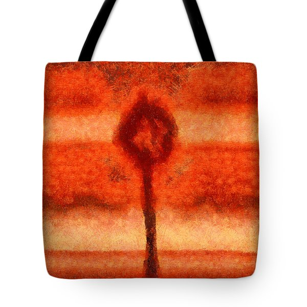 Abstract Tree Tote Bag by Pixel Chimp