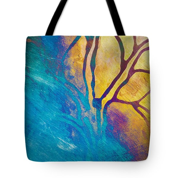 Fire And Ice Abstract Tree Art  Tote Bag