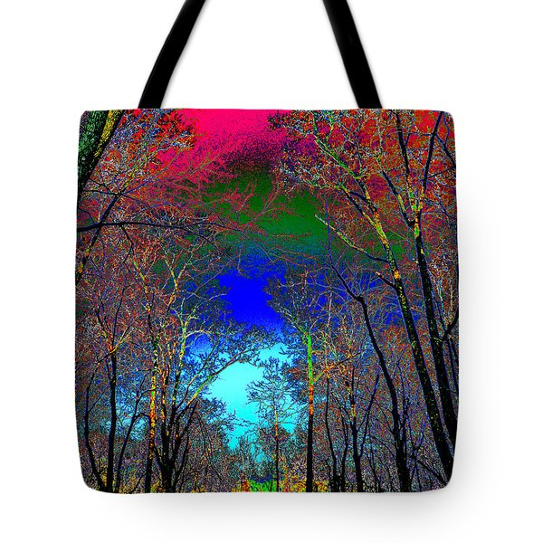Abstract Trees Tote Bag