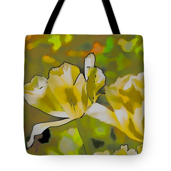 Tote Bag featuring the photograph Abstract Tulip by Leif Sohlman