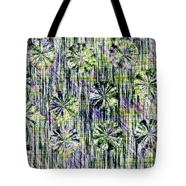 Abstract Umbrellas In Rain Tote Bag