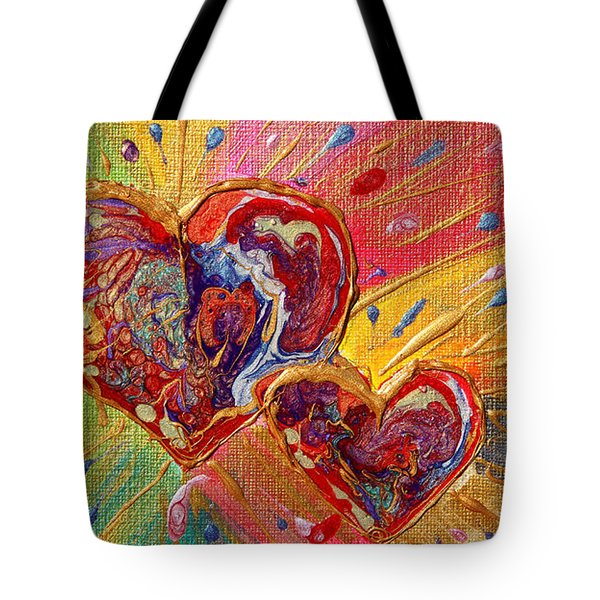 Abstract Valentines Love Hearts Tote Bag