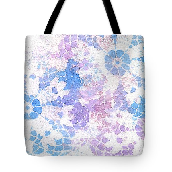 Abstract Vintage Lace Tote Bag