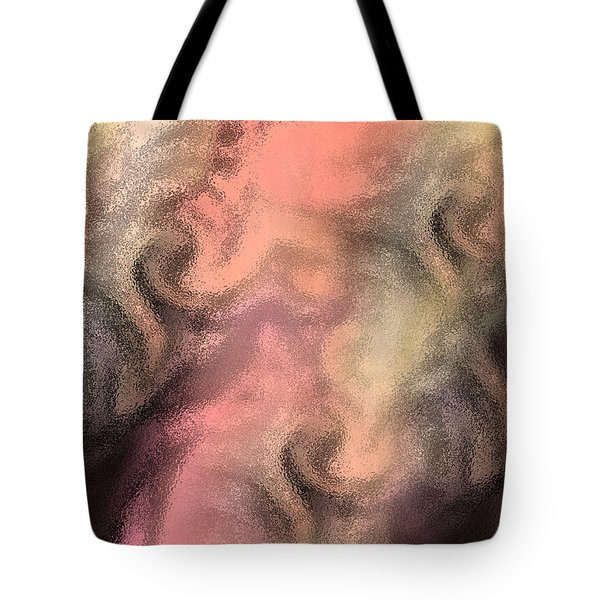 Abstract Watercolor And Ink Digital Painting Tote Bag by Georgeta Blanaru