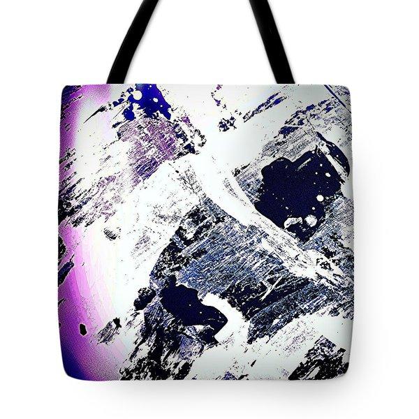 Purple And White 2 Tote Bag