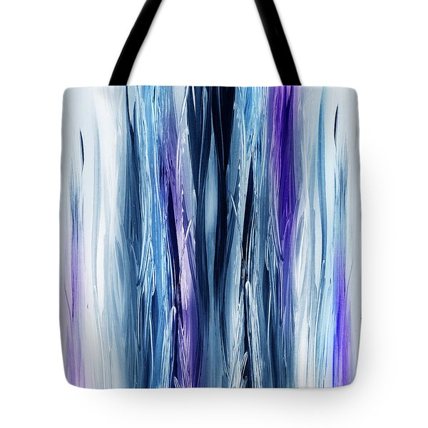 Abstract Waterfall Purple Flow Tote Bag by Irina Sztukowski