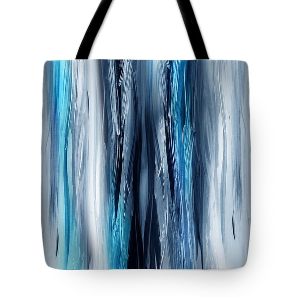 Abstract Waterfall Turquoise Flow Tote Bag
