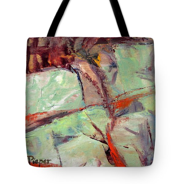Abstract With Cadmium Red Tote Bag