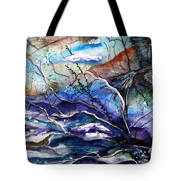Abstract Wolf Tote Bag by Lil Taylor