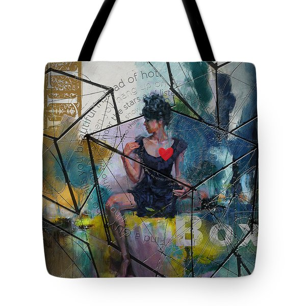 Abstract Woman 002 Tote Bag by Corporate Art Task Force