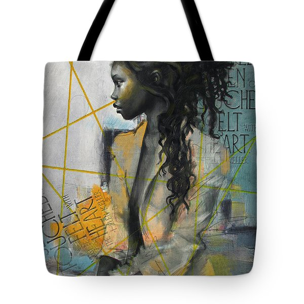 Abstract Women 004 Tote Bag by Corporate Art Task Force