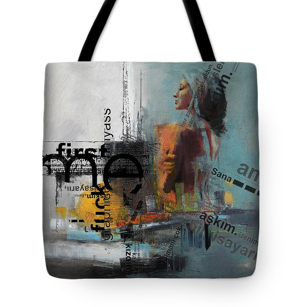 Abstract Women 013 Tote Bag by Corporate Art Task Force