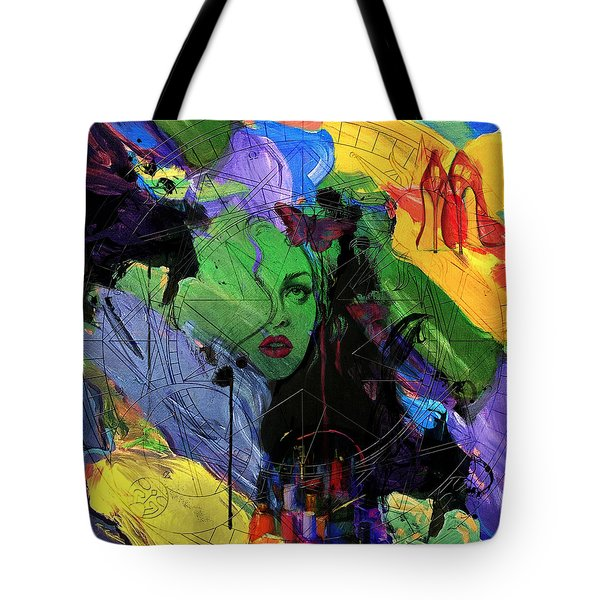 Abstract Women 014 Tote Bag by Corporate Art Task Force