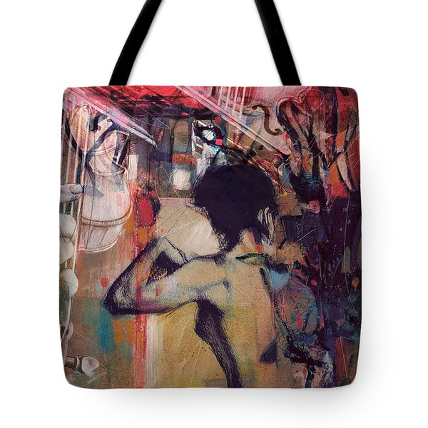 Abstract Women 017 Tote Bag by Corporate Art Task Force