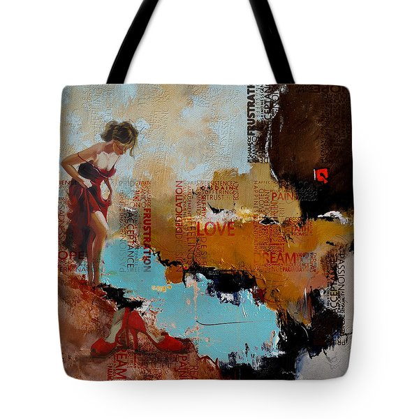 Abstract Women 019 Tote Bag by Corporate Art Task Force