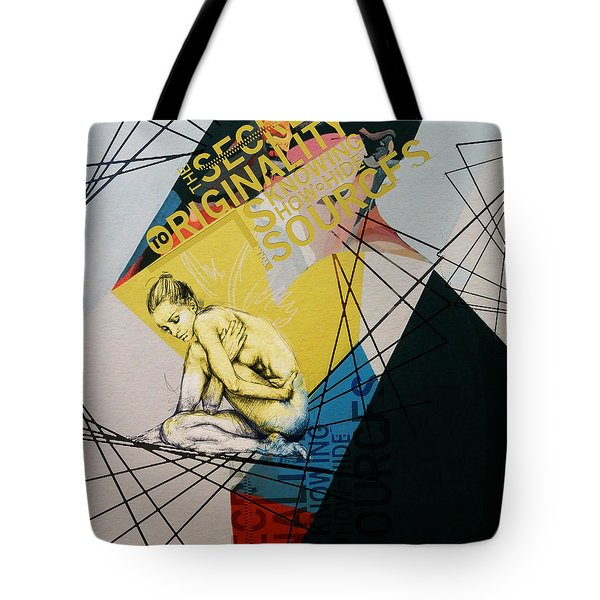 Abstract Women 021 Tote Bag by Corporate Art Task Force
