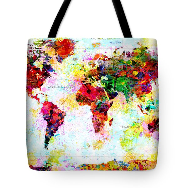 Abstract World Map Tote Bag