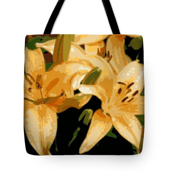 Tote Bag featuring the photograph Abstract Yellow Asiatic Lily - 1 by Kenny Glotfelty