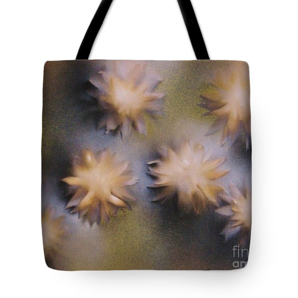 Abstract Yellow Flowers Tote Bag